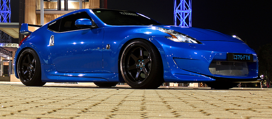 out of the blue roy s nissan 370z tuned international. Black Bedroom Furniture Sets. Home Design Ideas